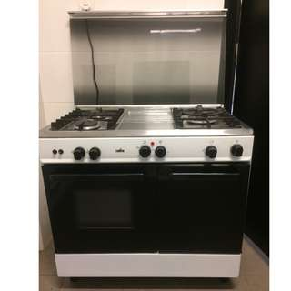 Zanussi 3 Burner Gas Cooker with 62L Electric Oven ZCG-932W