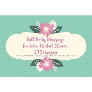 Herbal Steam for ladies