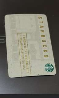 Starbucks card for collector - made of wood card