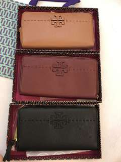 Original Tory Burch McGraw Zip Continental Wallet