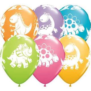 """11"""" Dinosaur Cute and Cuddly Latex Balloons (Assorted)"""