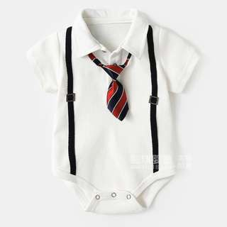 Suspenders and Tie Baby Newborn Romper/Onesie
