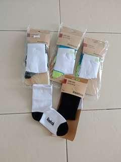 Reebok kids socks /kaos kaki anak /sport socks /kaos kaki sekolah