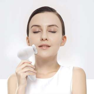 821. Facial Cleansing Brush MYCARBON IPX5 Waterproof Facial Exfoliating Brush Set 3 In 1 Portable Electric Facial Massager for All Skin Care