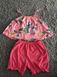 Zara Top and Disney Pooh Short