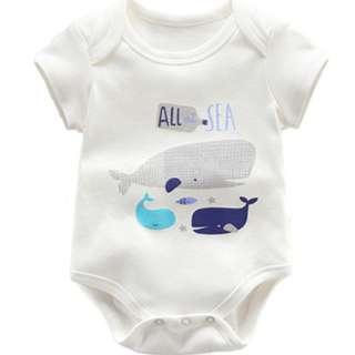Cute Baby Newborn Romper/Onesie with Whales