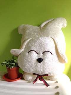 White dog plush