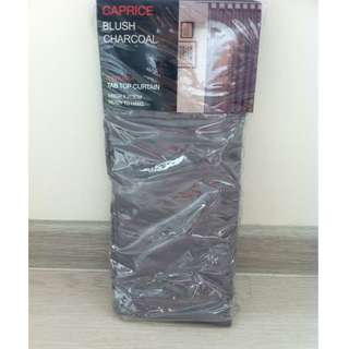 Caprice Blush Tab Top Curtain Charcoal 140 x 213 cm