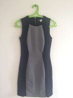 Dress Navy Stripes H&M