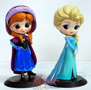 Disney Princeses - Frozen: Anna and Elsa pair - cute toy figurines pvc K.O. Qposket