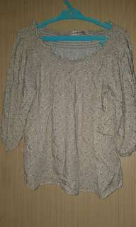 Used Once No Apologies Plus Size Off Shoulder Blouse