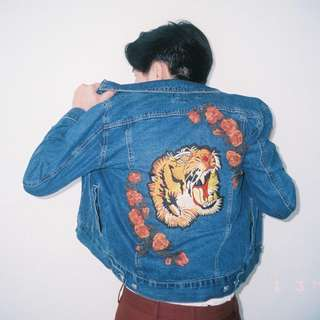 Embroidered Denim Trucker Jacket