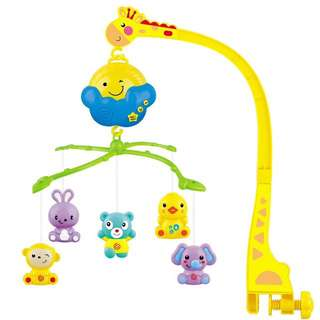 Baby kids crip mobile bed bell toy