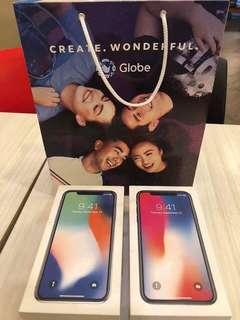 BRAND NEW iPhone X and 8 Plus 64 GB Globelocked
