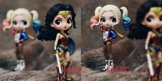 DC superhero girls: Wonder Woman and Harley Quinn pair - cute toy figurines pvc K.O. Qposket