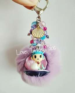 Tokidoki paruko mini mermaid bag charm fob