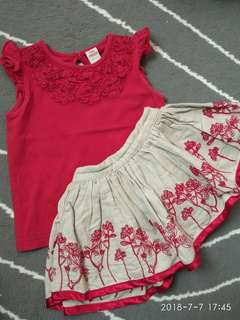 Baby Poney Top & Skirt