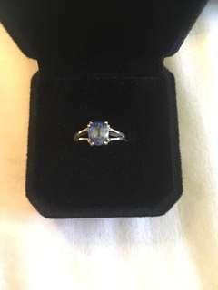 Ceylon sapphire solitaire