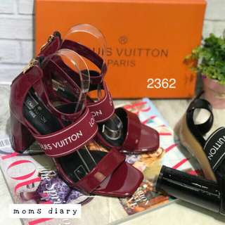 Louis Vuitton Premium heels 9cm (maroon, white, black)