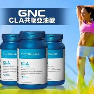 燃燒脂肪 美國GNC Total Lean CLA 共軛亞油酸 90粒 Burn 60 Q10