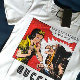 Women S, M ● GUCCY Snow White and Witch Magnetismo White Tee Shirt