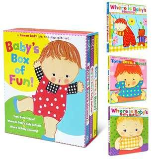 Baby's Box Of Fun - Karen Katz (Lift-The-Flap Gift Set)