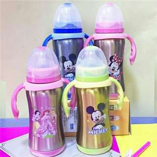*FREE DELIVERY to WM only / Ready stock* 260ml cartoon milk thermos bottle each as shown in design/color. Free delivery is applied for this item.