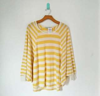 Blouse kuning garis