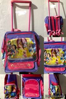 Preloved Authentic Disney Princess Mini Trolly Bag