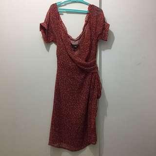 Overlap see-through dress