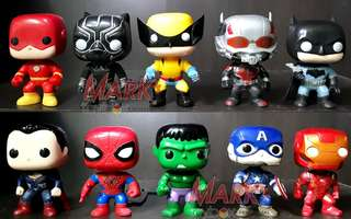 Marvel x DC K.O. FUNKO POP TOYS 10-piece set