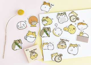 🚚 Kawaii Hamsters Scrapbook / Planner Stickers #168