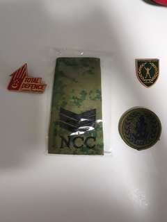 NCC Items: 3SG Rank, Cookie, Bronze Napfa, Total Defence