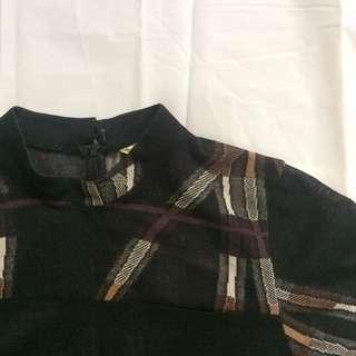Black Patterned Top