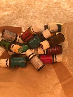Essential oils empty bottles (young living & others)