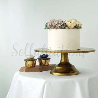 [Sellabrations] Rustic Gold Cake Stand 30cm