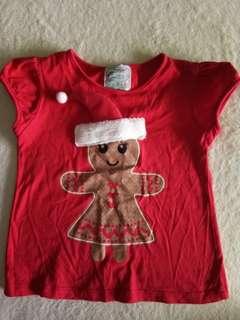 Xmas tshirt girl 3Y