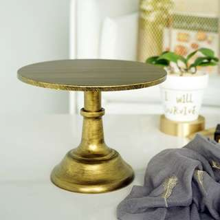 [Sellabrations] Rustic Gold Cake Stand 25cm