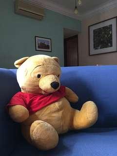 Winnie the Pooh big huggable soft toy