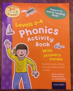 Phonics Activity Book Level 3-4 (Oxford Reading Tree)