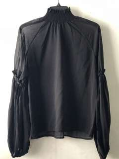 Siphon Black Blouse
