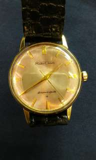 Seiko Crown Gold Case Watch