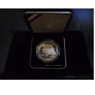 1995 US Special Olympics World Games Proof Silver Dollar