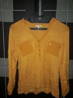 ET CETERA Yellow Shirt