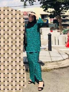 Baju Kurung Kedah Hijau