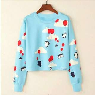 Sweater crop penguin