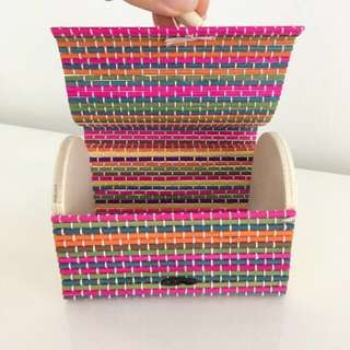 Colourful Rainbow Bamboo Chest Container Handmade Rustic Vintage Retro unicorn Jewelry Jewellery Box Present Birthday Gift For Her Him Friend mom dad
