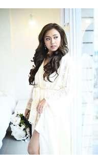 champagne gold bridal robe