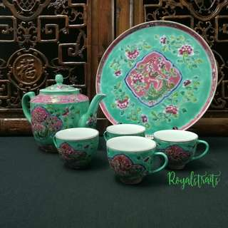 Highend Wedding Ceremonial Peranakan Nyonya Style Teapot