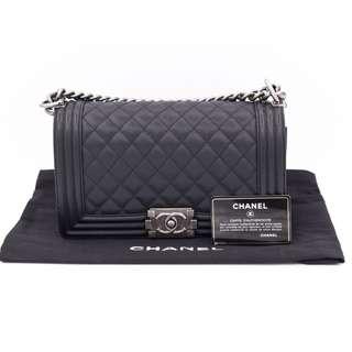 (NEW) CHANEL A67086 Y83338 BOY CAVIAR MEDIUM SHOULDER BAG SBHW 全新 手袋 黑色